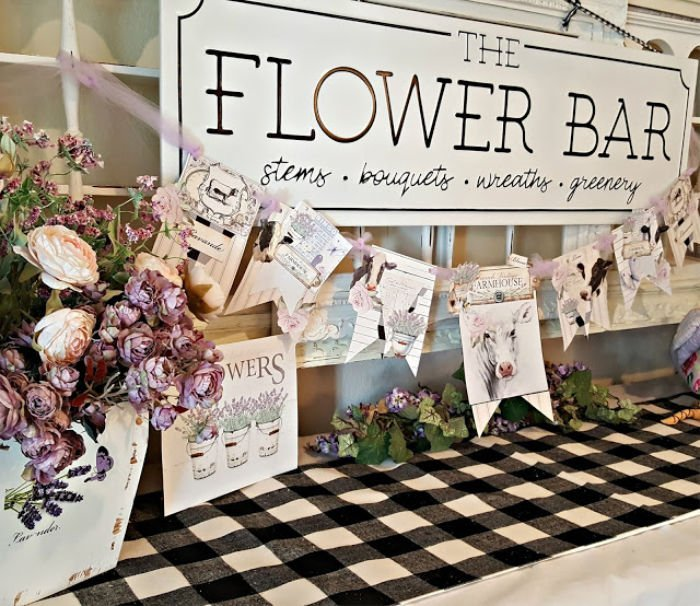 Farmhouse Flower Banner