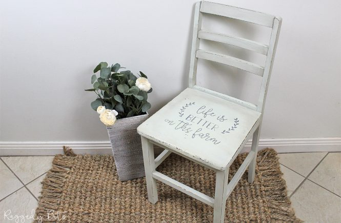 Chair Makeover with Stencil