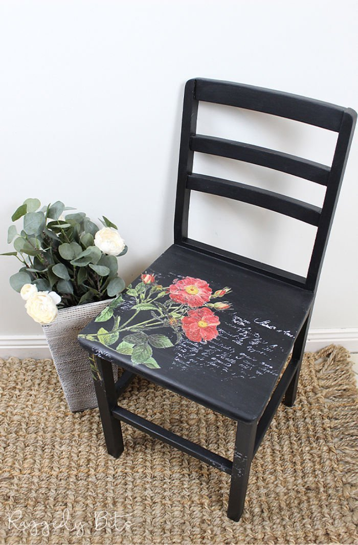 Chair Makeover with Stamps