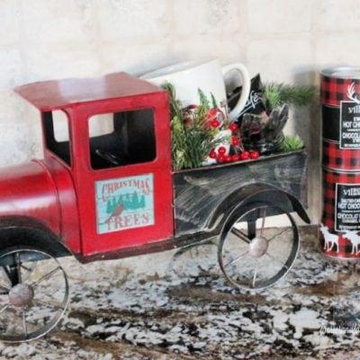 Red Truck Christmas Coffee Bar
