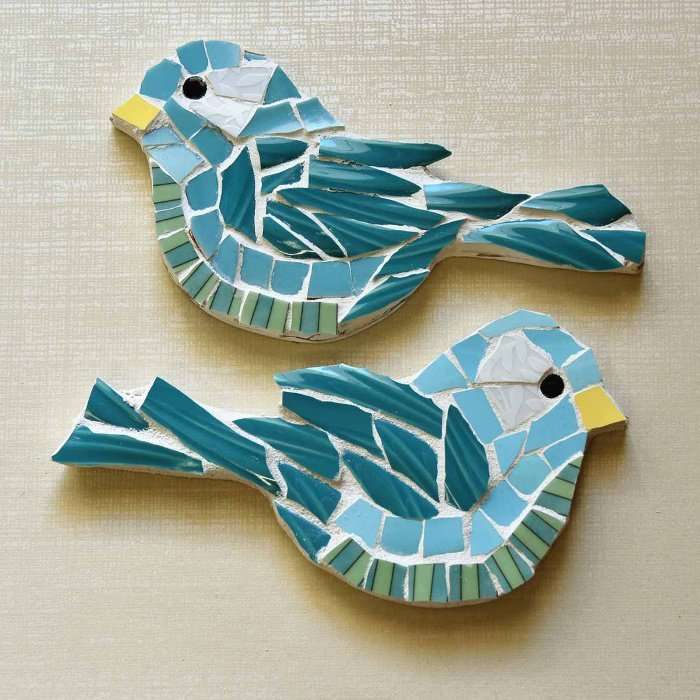 Mosaic Glass Bird Craft