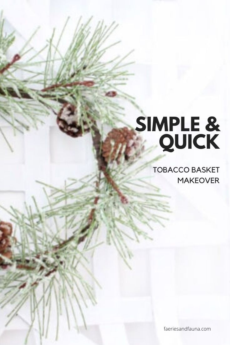 An easy to do recycle project. Turn an old tobacco basket into a new minimalist farmhouse wreath.