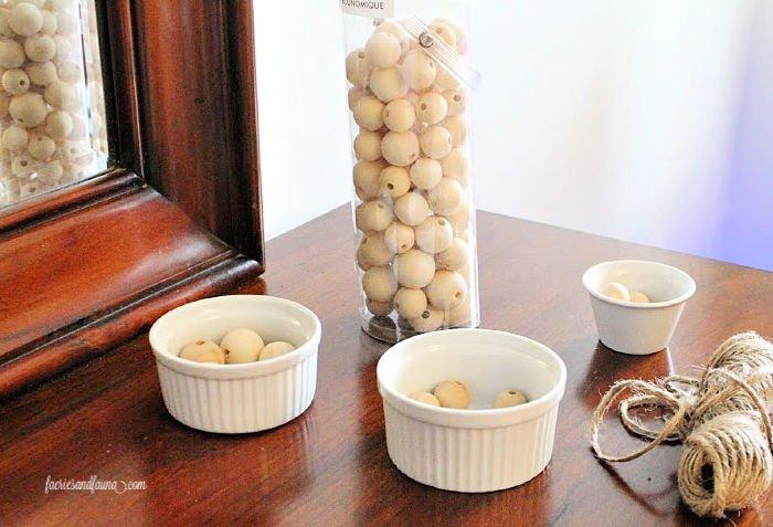 Wood Beads for a DIY Farmhouse beads with tassel.