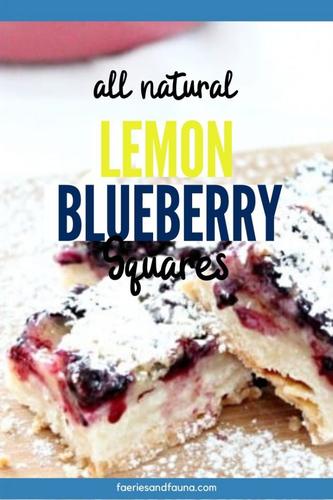 Blueberry and lemon bars with shortbread crust. A great picnic recipe