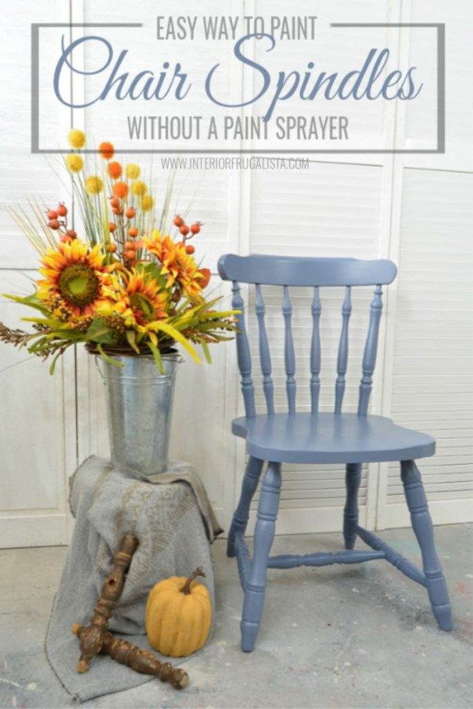 Chair spindled brush painted tutorial.