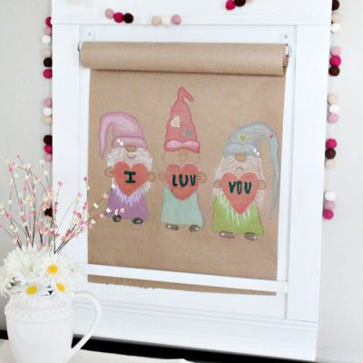 Gnome Scroll Valentines Craft for Kids and Families