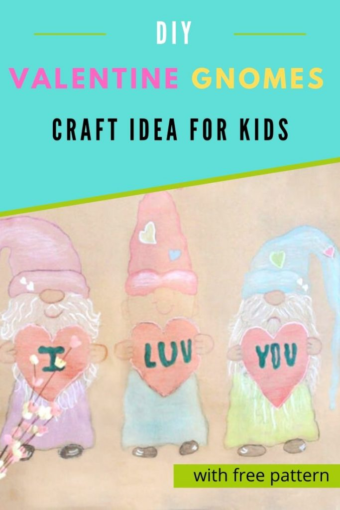 An adorable DIY kids craft for Valentines day with gnomes.