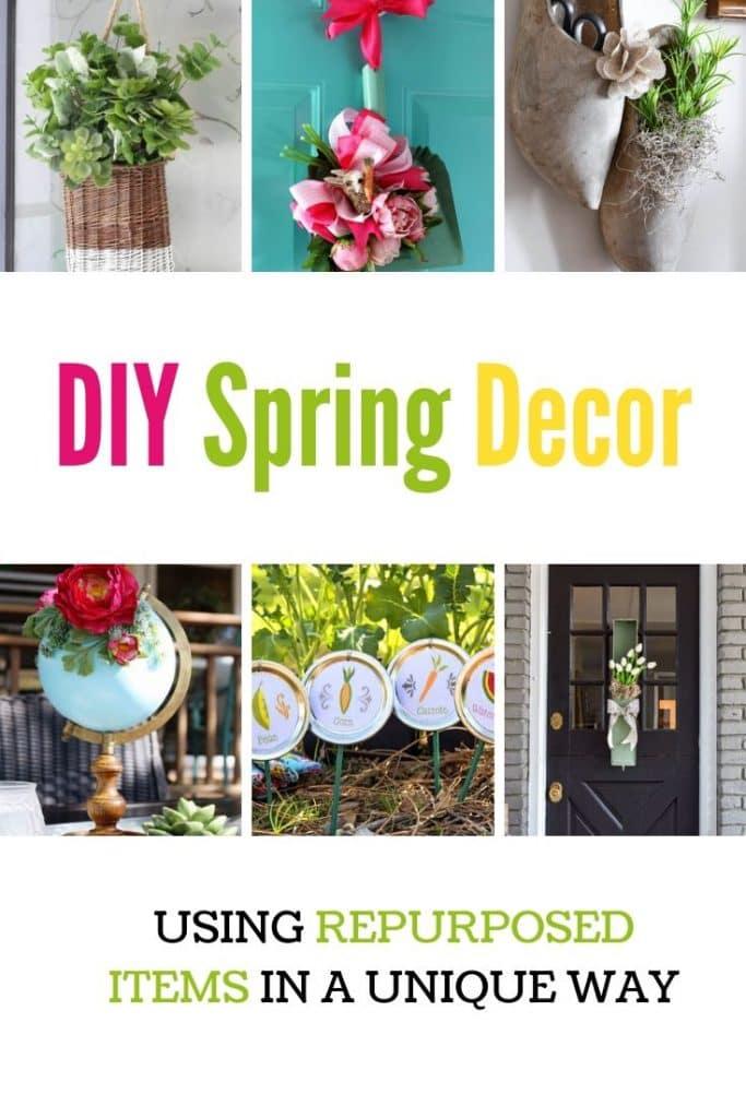 DIY Spring decor ideas using thrift items.