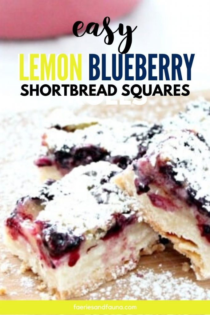 Lemon bars with blueberries. A unique lemon bar recipe.