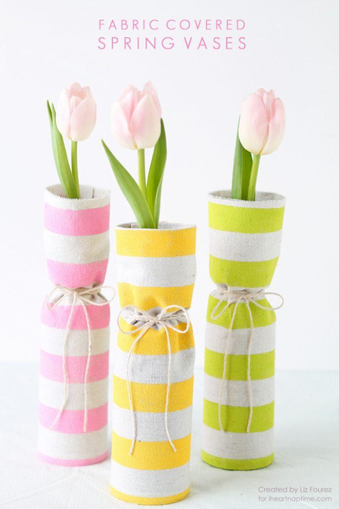 DIY Spring Vase from repurposed jars.