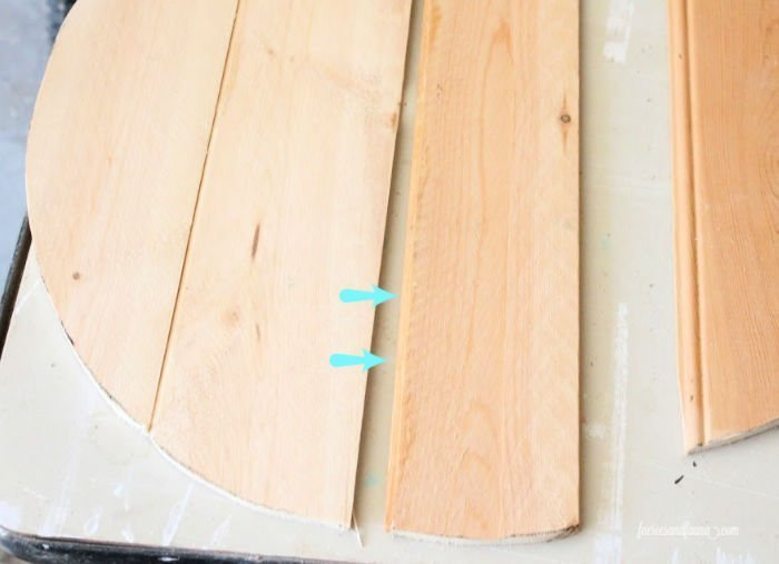 Gluing wood slats together for repairing a vintage wooden cheese box. A pretty makeover project for the home.