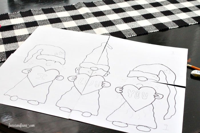 A free printable Valentines Day gnome printable.
