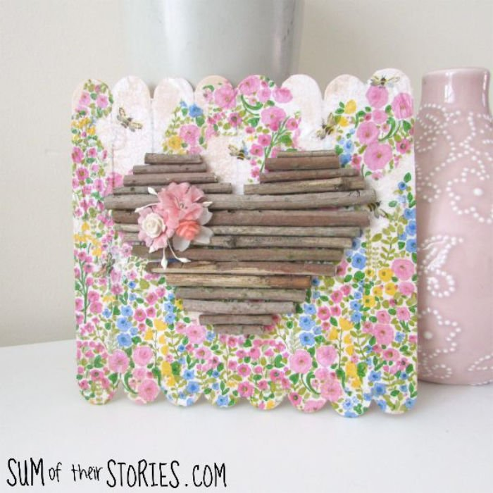 Heart mini Pallet sign for Valentines