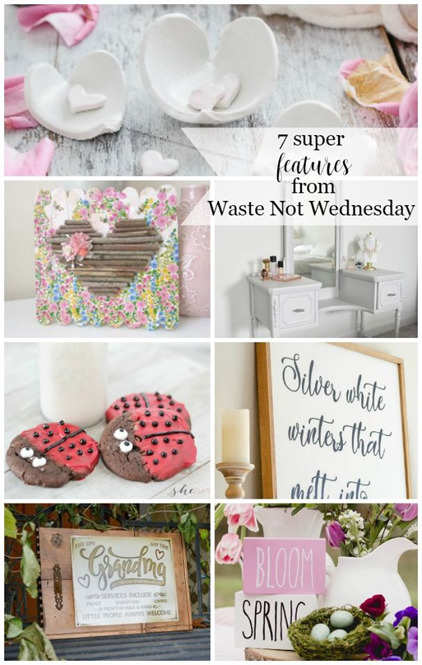 Waste Not Wednesday featured recipes, crafts, upcycles and DIY projects.