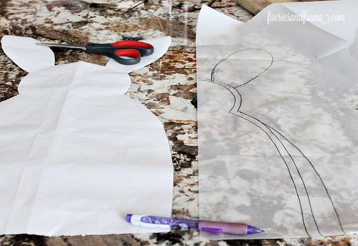 Creating the free pattern for the DIY Stuffed Buffalo Check Easter Bunny Craft