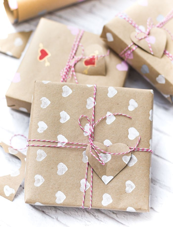 DIY Valentines Wrapping paper