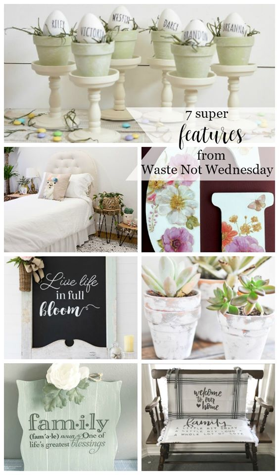 The featured crafts, DIY projects and recipes from this week's Waste not Wednesday link party.