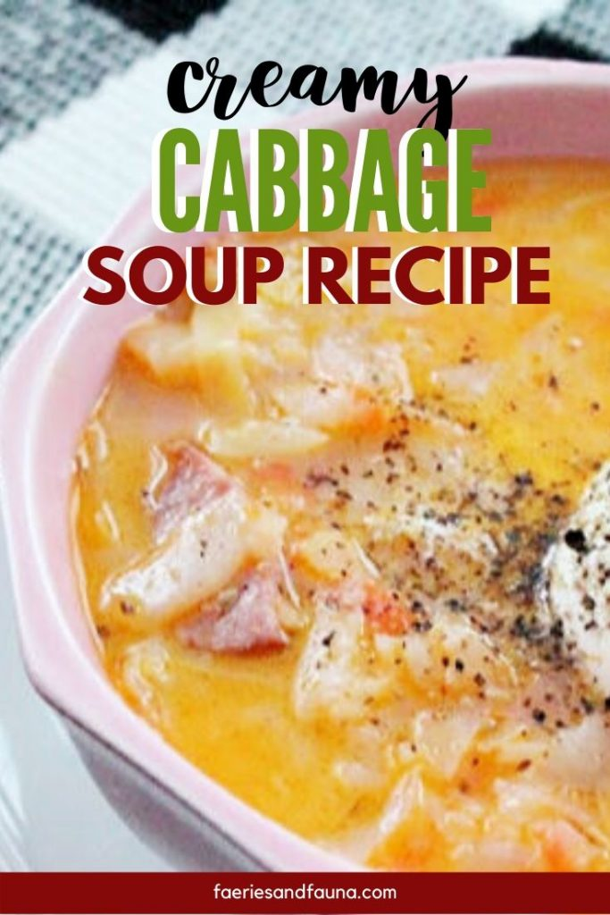 Hearty comfort food. Cabbage soup recipe with kielbasa sausage and beets.