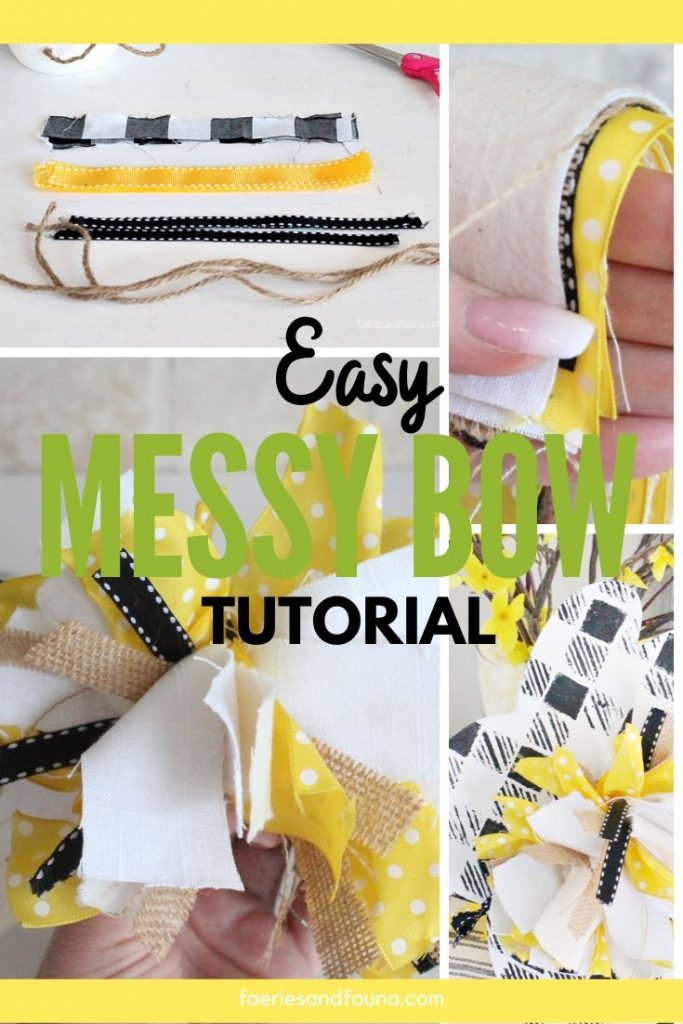 Easy to make DIY Mess Bow
