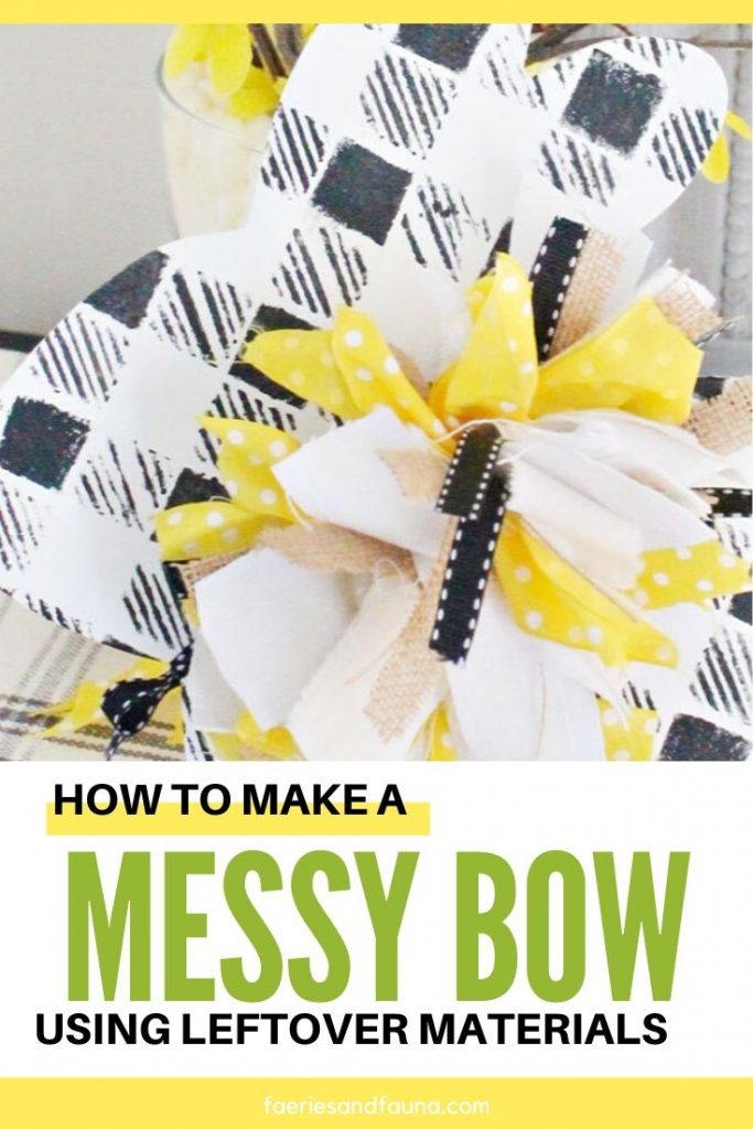 A hand tied messy bow tutorial, with coordinated leftover fabrics for cheap.