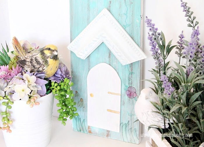 How to use an old frame to make a bird house artwork for outdoors
