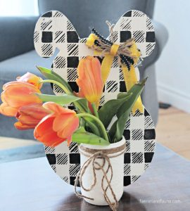 Dollar Store Farmhouse Easter Bunny Craft for Adults