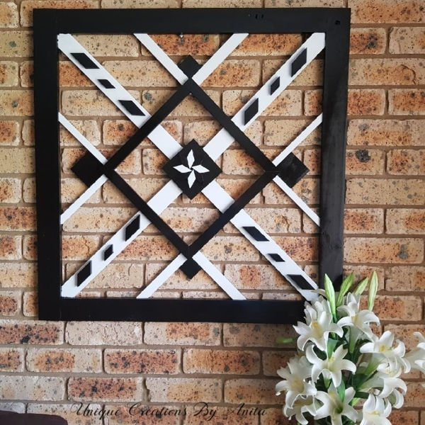 DIY Black and White Wood Wall Art
