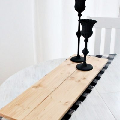 Easy DIY Farmhouse Wooden Riser Stand