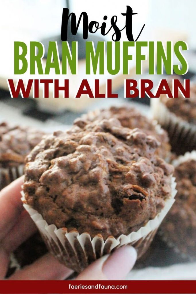 Classic brain muffin recipe made with molasses, raisins and All Bran cereal.
