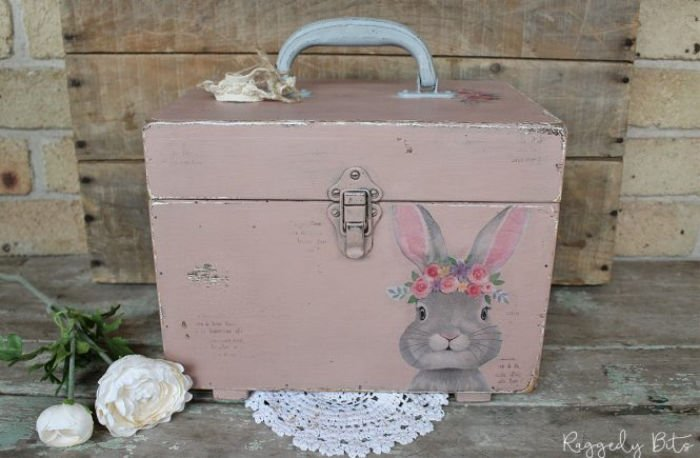 DIY Box Makeover with Easter Rabbit