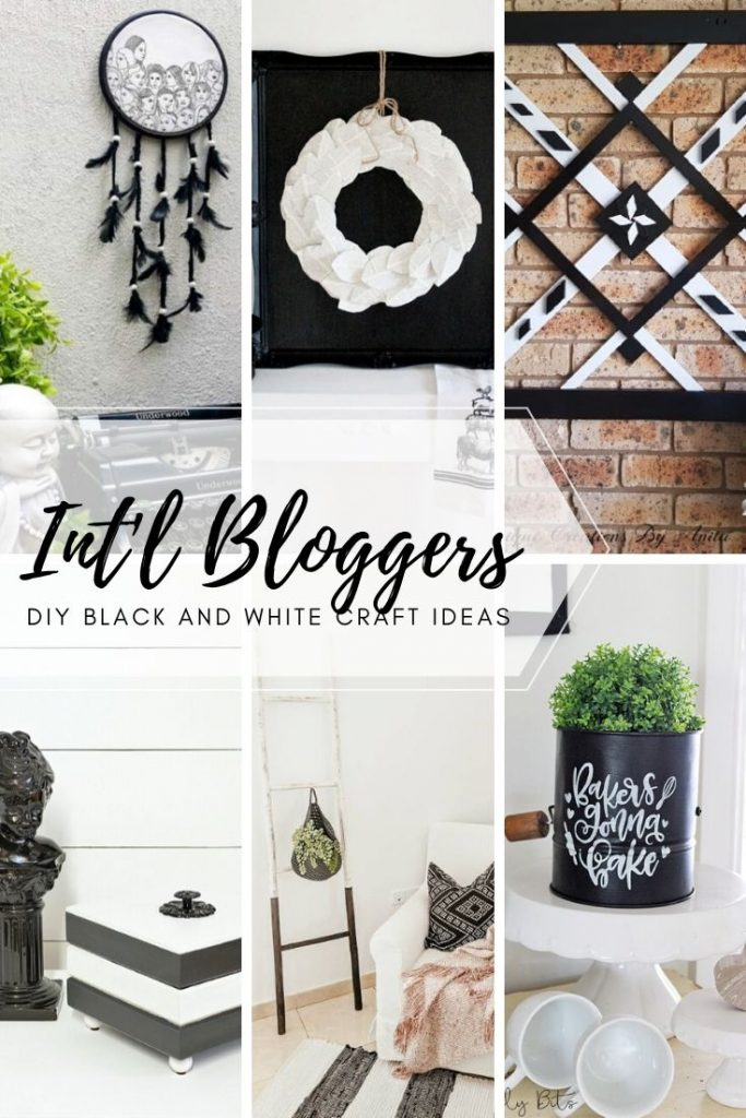 Black and White DIY projects for cheap and easy DIY home decor.