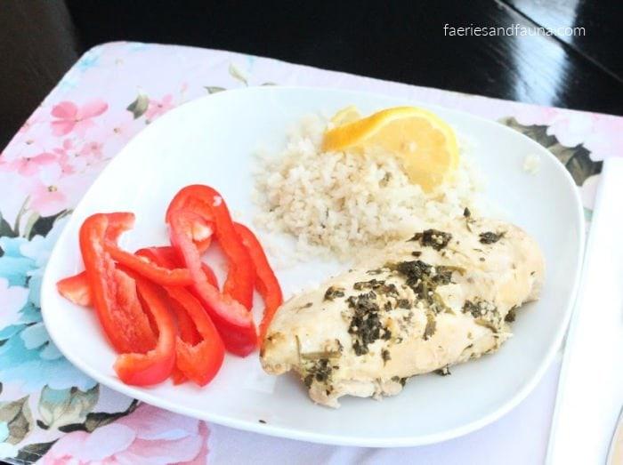 Lemon Chicken served with Cauliflower Rice