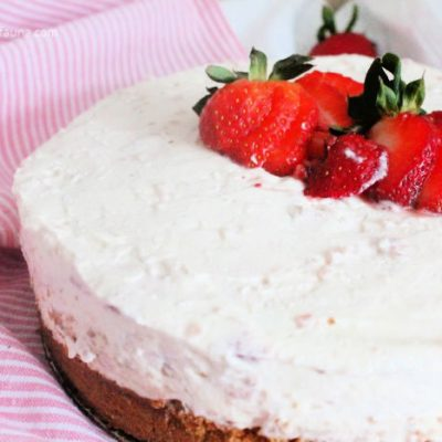 No Bake Strawberry Rhubarb Recipe for Cheesecake