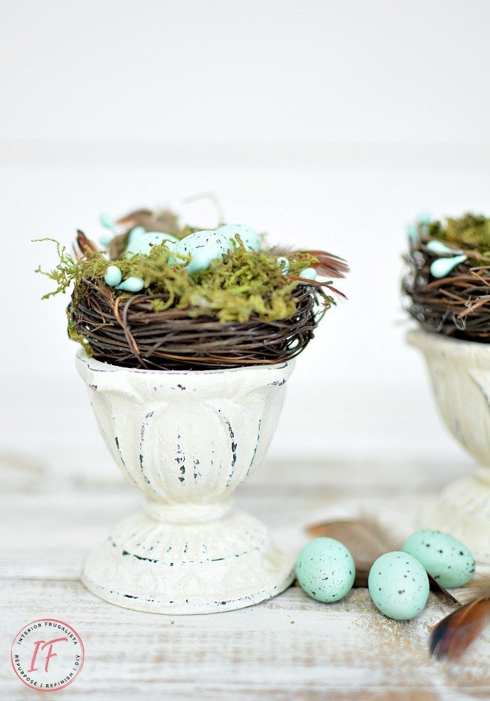 Upcycled Farmhouse Spring Nest Decor Featured Post
