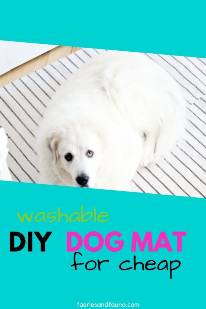 DIY Dog mat that is washable.