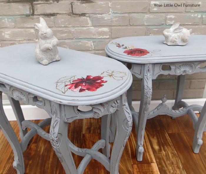 Shabby Chic Refinished Side Tables