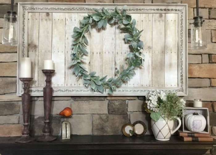 DIY Farmhouse Picture Frame update from an old thrifted frame