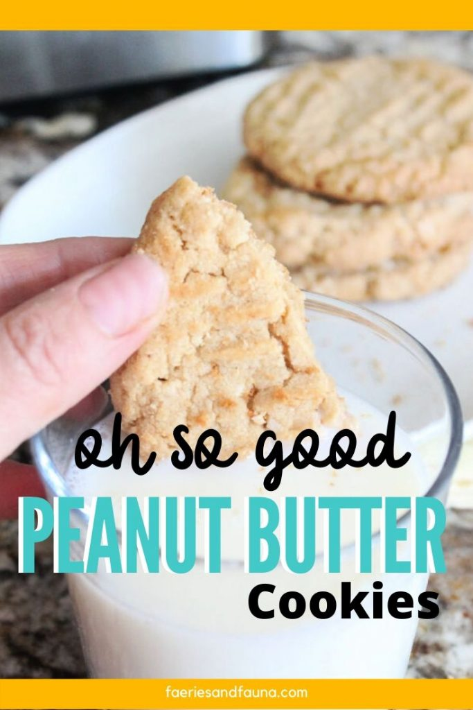 The best peanut butter cookie recipe. Classic drop cookies made from scratch using peanut buttet.
