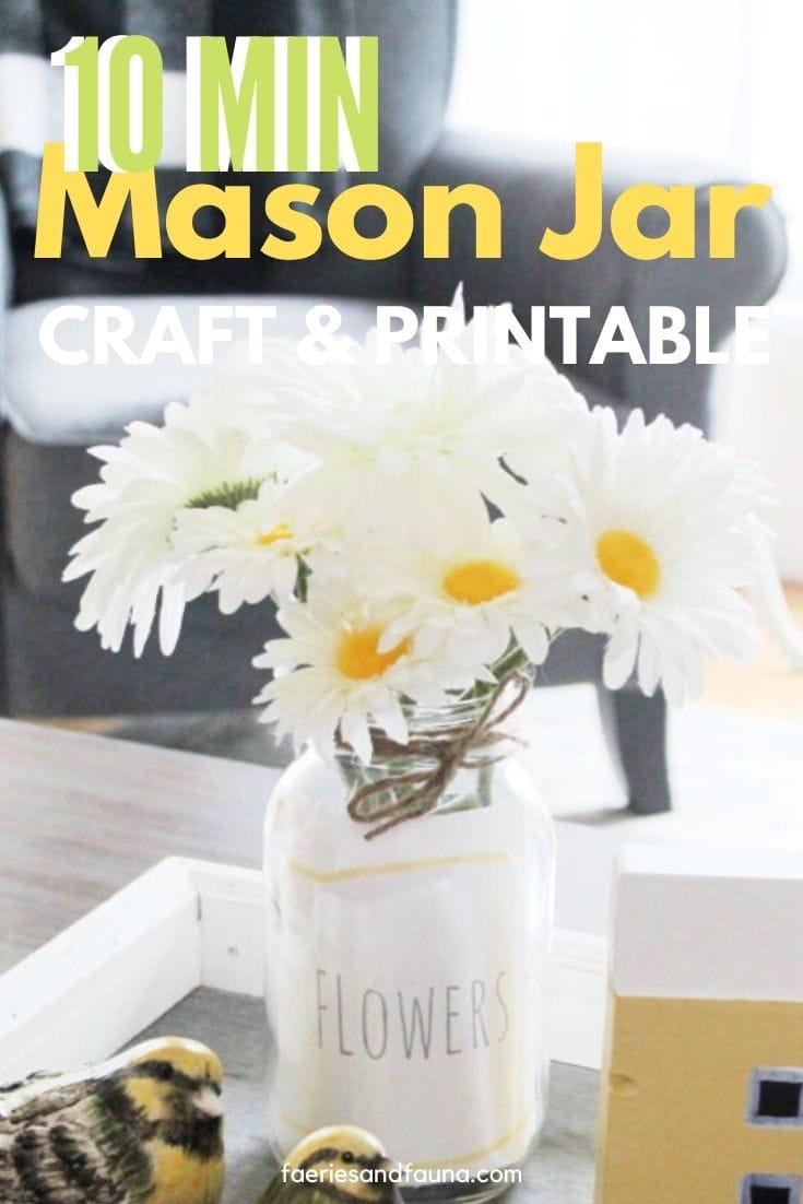 10 minute Craft for adults a DIY Mason Jar Vase