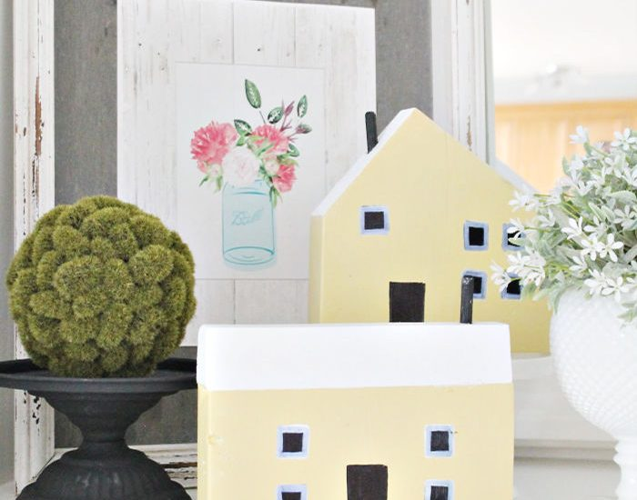 How to make a wood mini house craft. A great scrap wood project idea for cheap.