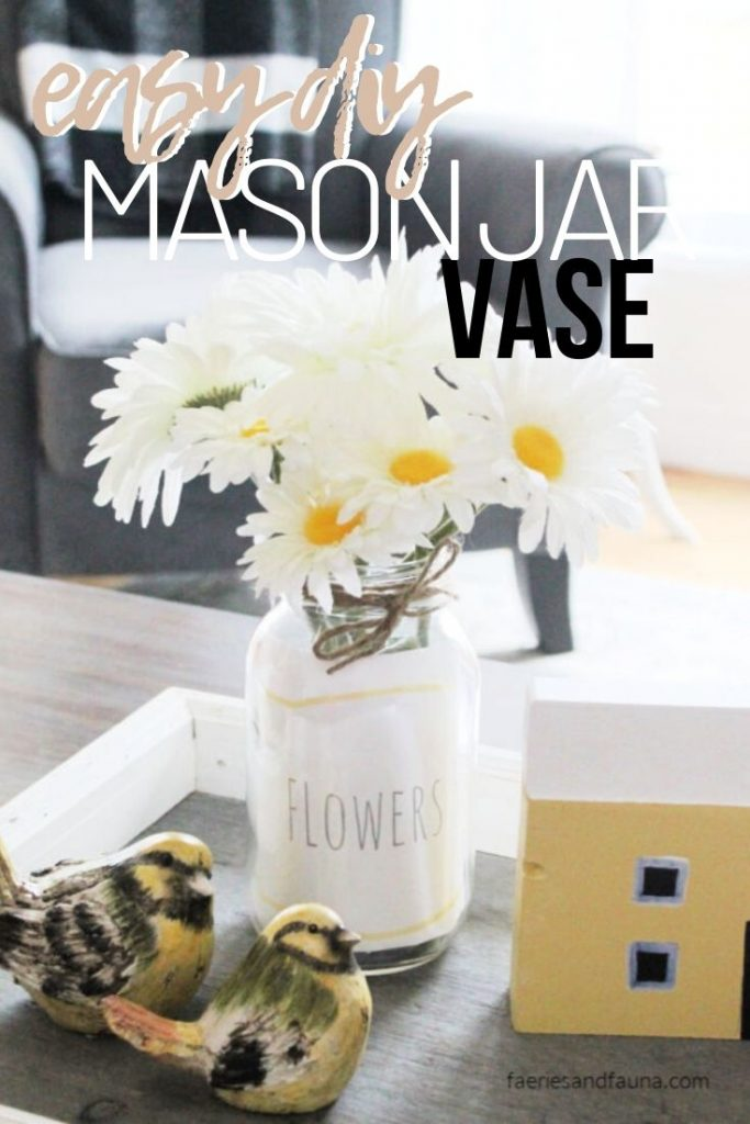 Simple and Quick Mason jar craft idea for adults using a free printable