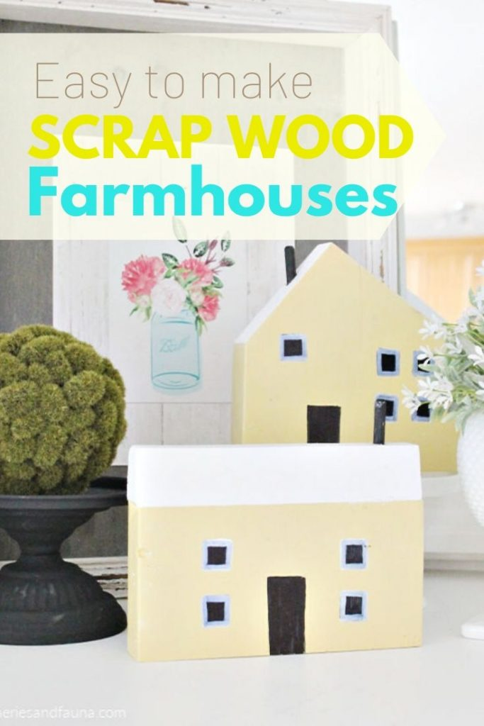 Easy wood working idea. How to make miniature house for farmhouse decorating.