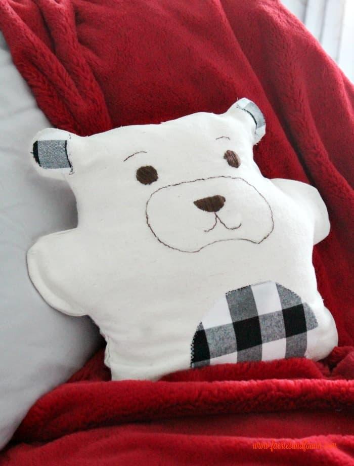 DIY pajama bag drop cloth craft Teddy Bear.