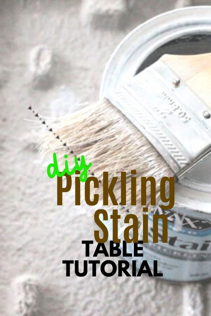 How to use White Pickling Stain to update an old table and chairs.