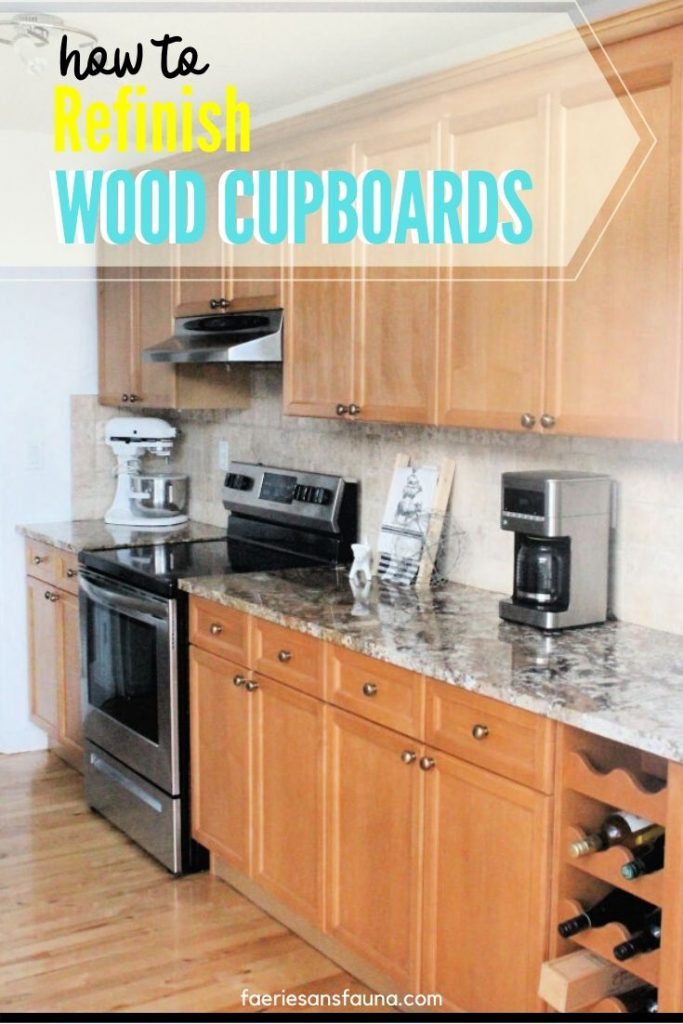 Refinished cupboards after a step by step tutorial