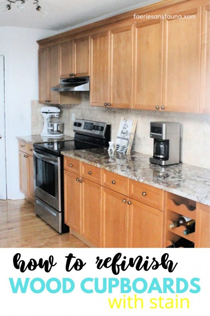 Image of: How To Refinish Wood Cabinets