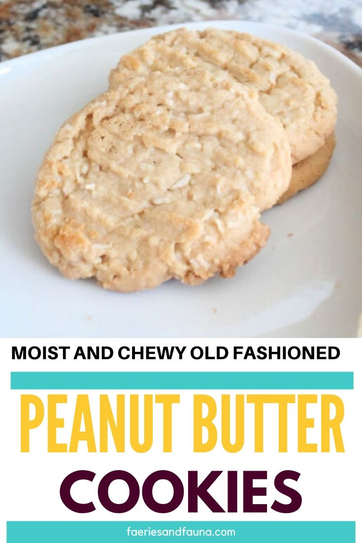 Easy recipe for homemade peanut butter cookies.