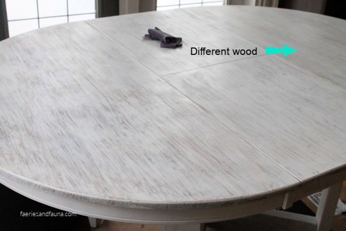 How to refinish a table in white using stain.