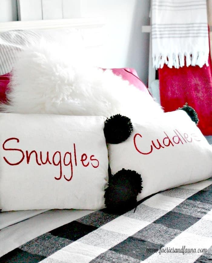 DIY Painted Drop Cloth Cushions