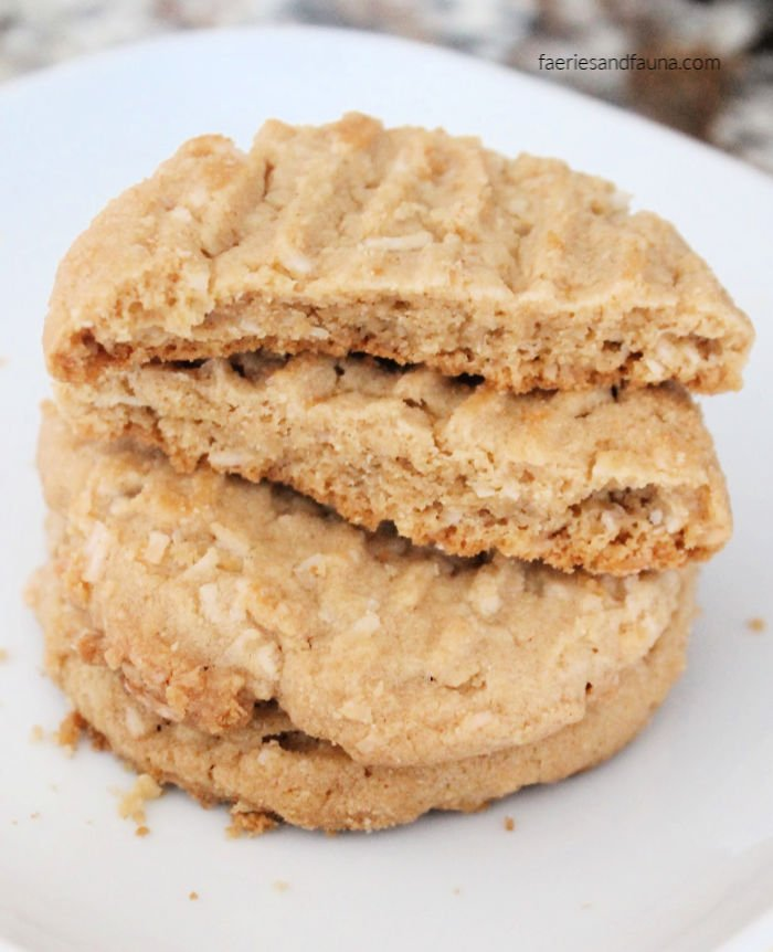 A stack of homemade Peanut Butter Cookies . The best peanut butter cookie ever.